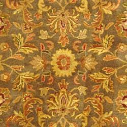 Safavieh Handmade Antiquities Kerman Charcoal Green Wool Rug (5' x 8')