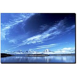 Kurt Shaffer 'A Grand Teton Vista' Medium Canvas Art