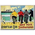 Henri Cassiers 'American Line New York to Southampton' Canvas Art