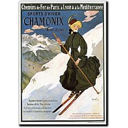Abel Faivre 'Sports D'Hiver Chamonix Mont Blanc' Art