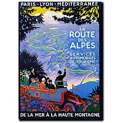 Roger Broders 'La Route des Alpes' Canvas Art