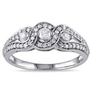 Miadora 14k White Gold 1/2ct TDW Diamond Ring (I-J, I2-I3)