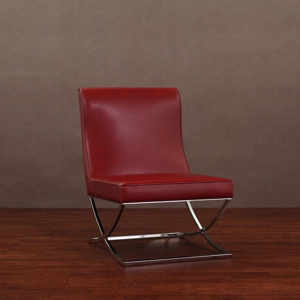 Milano Burnt Red Leather Lounger
