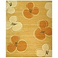 Handmade Soho Daisy Gold New Zealand Wool Rug (7'6 x 9'6)
