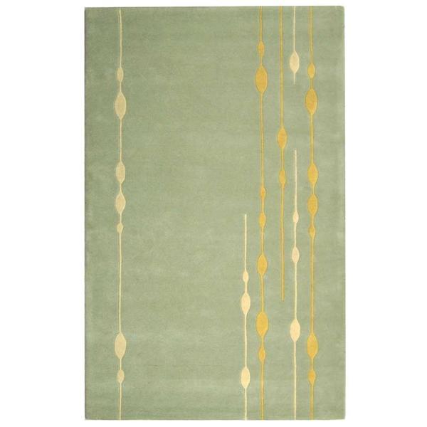 Safavieh Handmade Soho Vines Mint Green New Zealand Wool Rug (3'6 x 5'6)