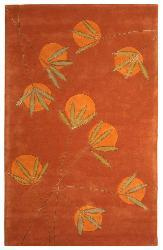 Handmade Soho Summer Rust New Zealand Wool Rug (3'6 x 5'6)