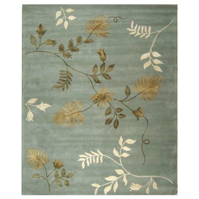 Safavieh Handmade Soho Twigs Light Blue New Zealand Wool Rug (9'6 x 13'6)