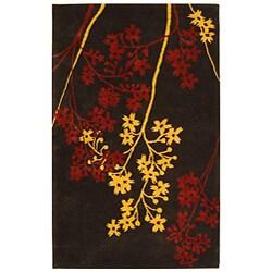 Handmade Soho Autumn Brown New Zealand Wool Rug (5' x 8')