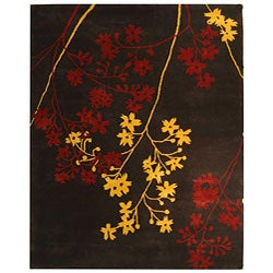 Handmade Soho Autumn Brown New Zealand Wool Rug (8'3 x 11')