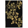 Handmade Soho Autumn Black New Zealand Wool Rug (5' x 8')
