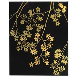Safavieh Handmade Soho Autumn Black New Zealand Wool Rug (7'6 x 9'6)