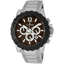 Le Chateau Men's Sports Dinamica Silver/Black Watch