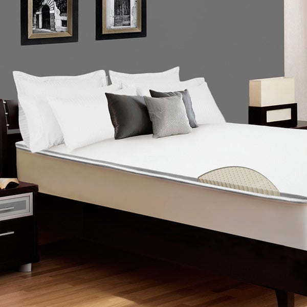 Select Luxury E.C.O. Latex 2-inch Full-size Reversible Mattress Topper with Cover