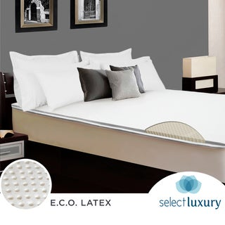 Select Luxury E.C.O. Latex 2-inch Queen-size Reversible Mattress Topper with Cover