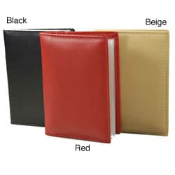 Romano Series Italian Nappa Leather Black/Red Bi-fold Cardholder