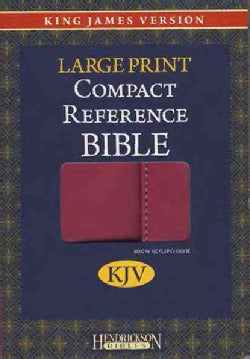 Holy Bible: King James Version, Berry, Imitation Leather, Large Print Compact Reference Bible W/Magnetic Flap (Hardcover)