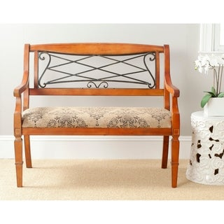 Safavieh Gramercy Antique Brown Cherry Bench