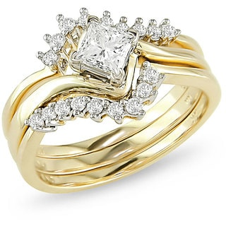14k Yellow Gold 3/4ct TDW Diamond Bridal Ring Set (H-I, I1-I2)