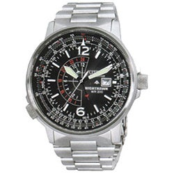 Citizen Eco-Drive Nighthawk Men's Steel Watch