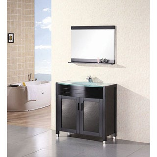 Design Element Contemporary Bathroom Vanity with Waterfall Faucet