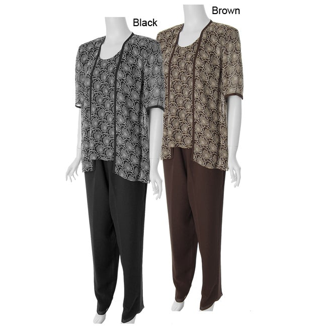 Adi Designs Plus Size 3-piece Pant Suit