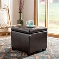 Jonathan Flip-top Brown Ottoman