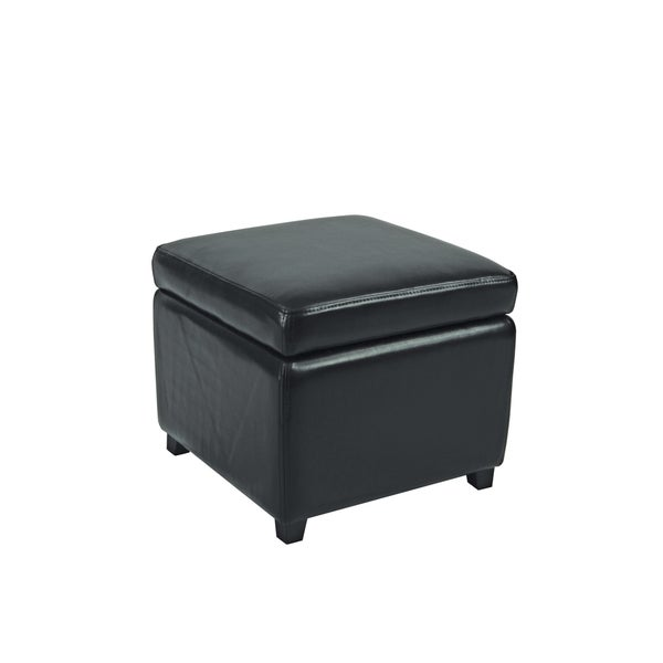 Safavieh Jonathan Storage Flip-top Black Ottoman