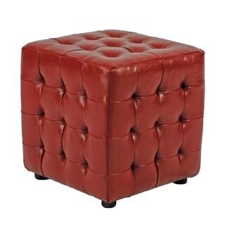 Safavieh Kristof Storage Red Ottomans (Set of 2)