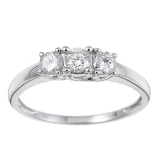 Miadora 14k Gold 1/2ct TDW Round Diamond Bridal Ring (J-K, I2-I3)