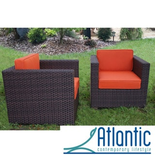 Modena Chair Set with Orange Cushions
