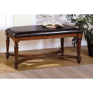 Furniture of America Mahogany-color Solid Wood Accent Bench