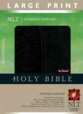 Holy Bible: New Living Translation, Black/onyx, Tutone, Leatherlike, Large Print Compact Bible (Hardcover)