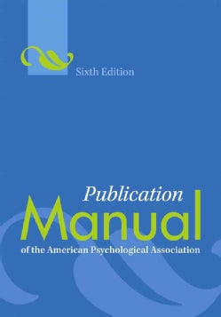 Publication Manual of the American Psychological Association (Spiral bound)