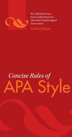 Concise Rules of APA Style (Paperback)
