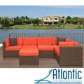 Modena 6-piece Patio Set with Orange Cushions