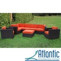 Siena 8-piece Patio Set with Orange Cushions