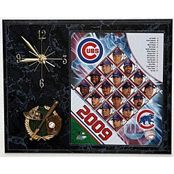 Chicago Cubs Team Picture Plaque Clock