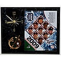 Detroit Tigers Team Picture Plaque Clock