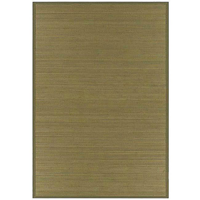 Wood-tone Bamboo Rug (6' x 9')