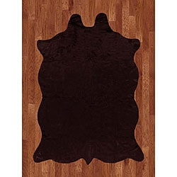 Animal Hide Brown Acrylic Rug (5' x 7')