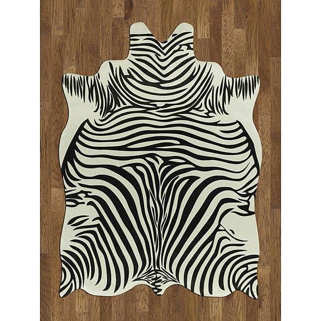 Zebra Rug Wayfair: Zebra Hide Polyproplene Rug (5' X 7')