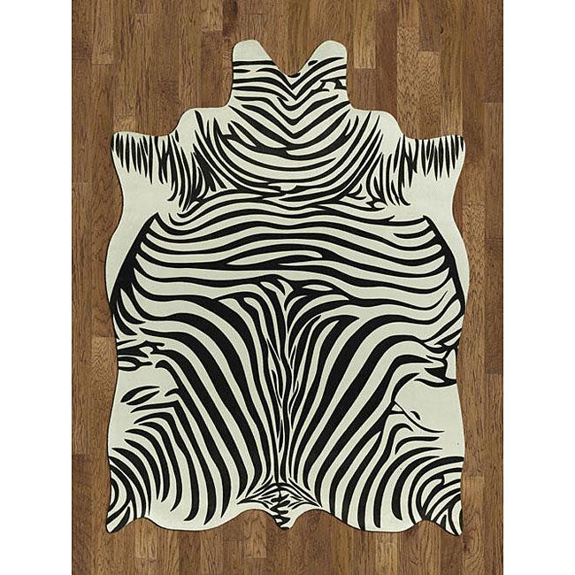 Acura Rugs Animal Hide White Black Zebra Area Rug