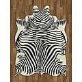 Zebra Hide Polyproplene Rug (5' x 7')