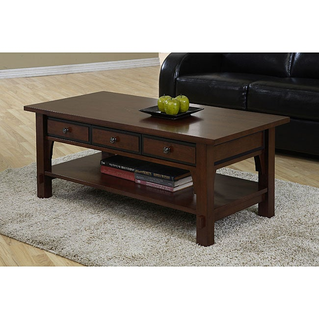Talisman 3 Drawer Coffee Table 12010409 Shopping