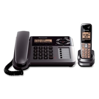 Panasonic DECT 6.0 1.90 GHz Cordless Phone - Metallic Gray, Black