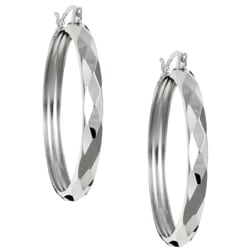 Platifina 38-mm Diameter Swiss-cut Hoop Earrings