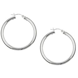 Sterling Essentials Sterling Silver 45mm x 4mm Hoop Earrings