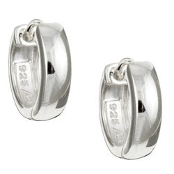 Sterling Essentials Sterling Silver 14mm x 4mm Hinged Hoop Earrings