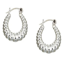 Sterling Essentials Sterling Silver Petite Shrimp Hoop Earrings