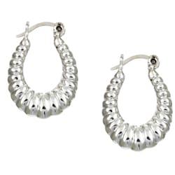 Sterling Essentials Sterling Silver Petite Shrimp Hoop Earrings
